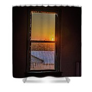 The Golden Sunset Shower Curtain