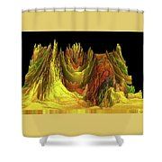 The Golden Valley Shower Curtain