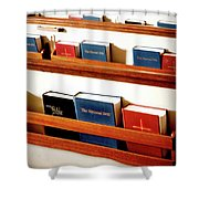The Good Books Shower Curtain