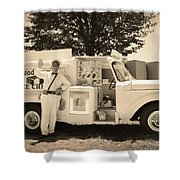 The Good Humor Man In Sepia Shower Curtain