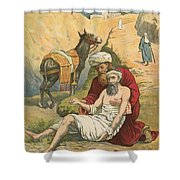 The Good Samaritan Shower Curtain