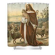 The Good Shepherd Shower Curtain by John Lawson