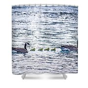 The Goose Family Shower Curtain