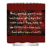 The Grace Of Suffering Shower Curtain