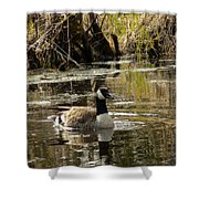 The Graceful Goose Shower Curtain