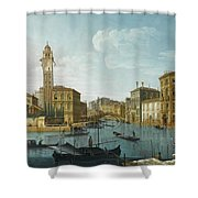 The Grand Canal At The Entrance Shower Curtain