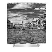 The Grand Canal Bw Shower Curtain