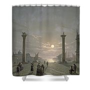 The Grand Canal From Piazza San Marco Shower Curtain