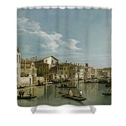 The Grand Canal In Venice From Palazzo Flangini To Campo San Marcuola Shower Curtain