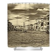 The Grand Canal - Paint Sepia Shower Curtain