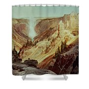 The Grand Canyon Of The Yellowstone Shower Curtain by Thomas Moran