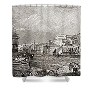 The Grand Harbour, Valetta, Malta After Shower Curtain