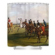 The Grand Leicestershire Steeplechase, March 12, 1829  The Start Shower Curtain