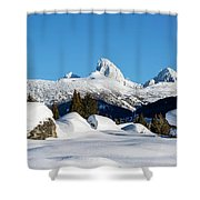 The  Grand Tetons From Alta Wyoming Shower Curtain
