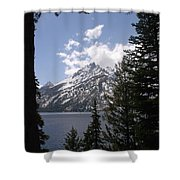 The Grand Tetons Lake Shower Curtain