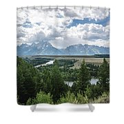 The Grand Tetons Shower Curtain by Margaret Pitcher
