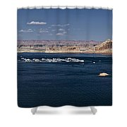 The Grand View Of Wahweap Bay Shower Curtain