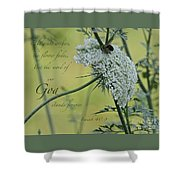 The Grass Withers Shower Curtain