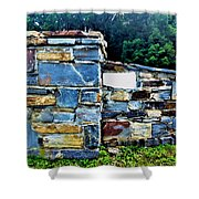 The Grateful Stone Wall Shower Curtain