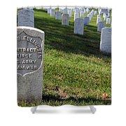 The Grave Of Martha B. Ellingsen In Arlington's Nurses Section Shower Curtain