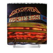 The Gravitron Shower Curtain