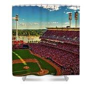 The Great American Ball Park - Cincinnati Shower Curtain