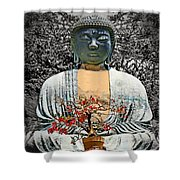 The Great Buddha Shower Curtain