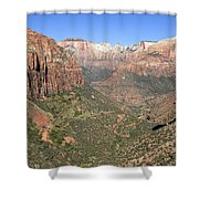 The Great Canyon Of Zion Shower Curtain