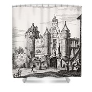 The Great Chatelet Of Paris. Principal Shower Curtain