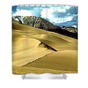The Great Colorado Sand Dunes Color Print Shower Curtain