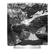 The Great Divide Bw Shower Curtain