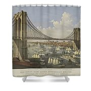 The Great East River Suspension Bridge Shower Curtain