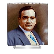 The Great Enrico Caruso Shower Curtain