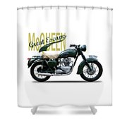 The Great Escape Motorcycle Shower Curtain