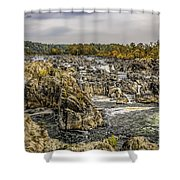 The Great Falls Of The Potomac Shower Curtain