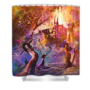 The Great Fire Of Woman Shower Curtain