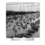 The Great Flotilla Shower Curtain