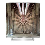 The Great Hall, Winchester Castle, Hampshire Zoom Burst Shower Curtain