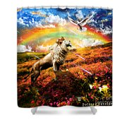 The Great Out Pouring  Shower Curtain