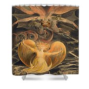 The Great Red Dragon And The Woman Clothed With The Sun Shower Curtain
