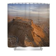 The Great Refuge Of Masada Looms Shower Curtain
