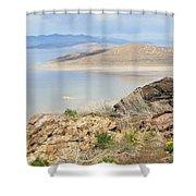 The Great Salt Lake 3 Shower Curtain