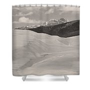 The Great Sand Dunes  Bw Sepia Shower Curtain