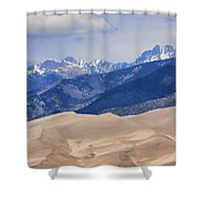 The Great Sand Dunes Color Print 45 Shower Curtain
