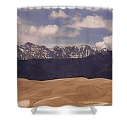 The Great Sand Dunes Panorama 1 Shower Curtain