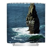 The Great Sea Stack Brananmore Cliffs Of Moher Ireland Shower Curtain