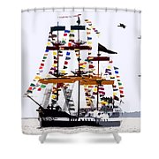 The Great Ship Gasparilla Shower Curtain