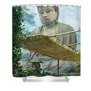 The Great Statue Of Amida Buddha At Kamakura Shower Curtain