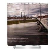 The Great Stone Dam Lawrence, Massachusetts Shower Curtain