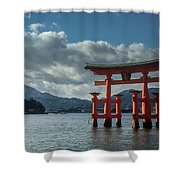 The Great Torii Shower Curtain